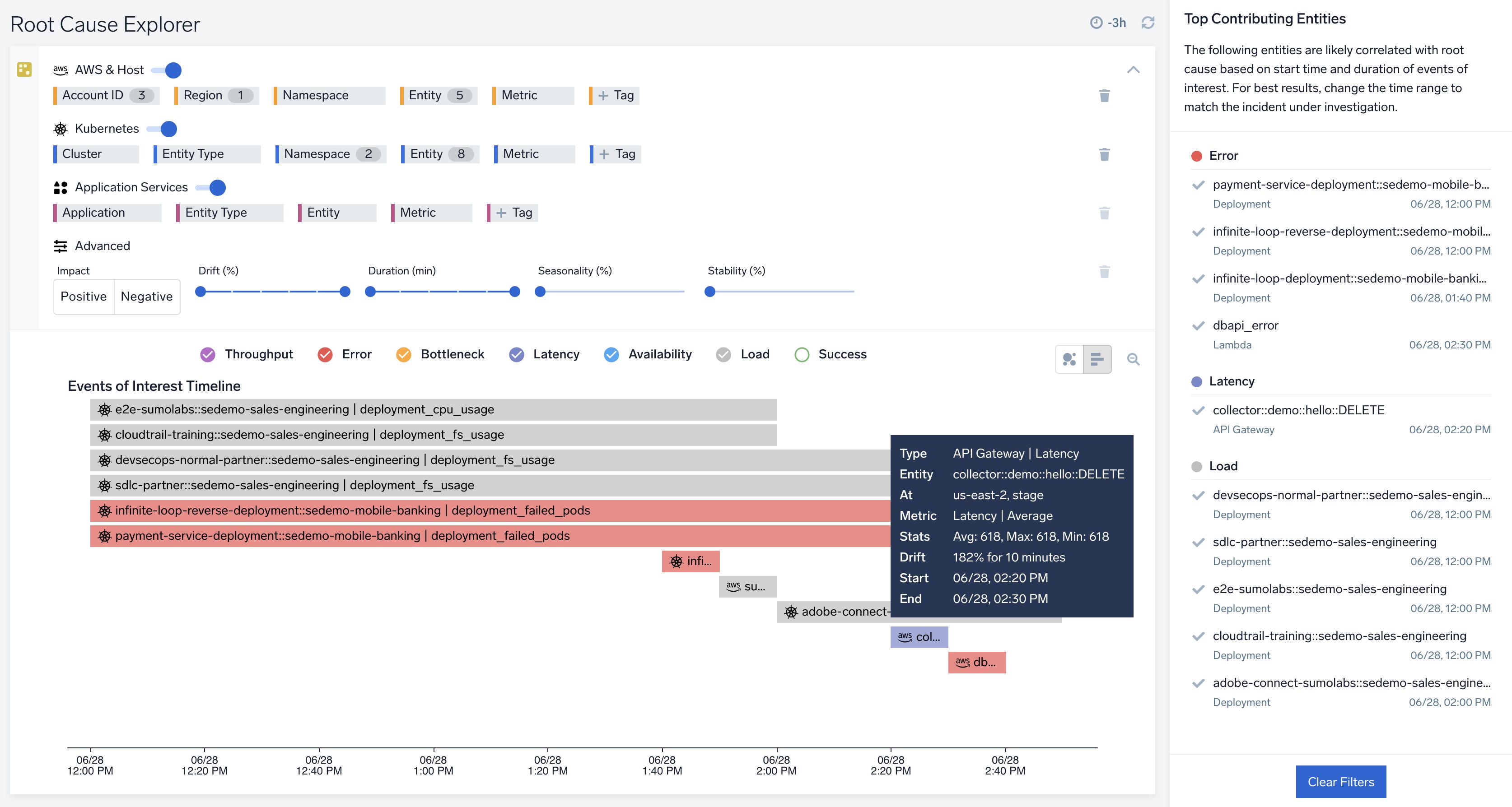 Root Cause Explorer Improvements